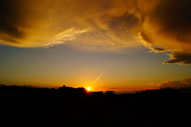 Sunset over Ruth Island