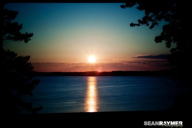 Lastnights Sunset over Rice Lake Peterborough, Ontario Canada