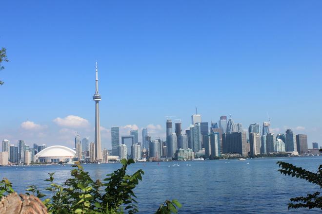 Toronto Skyline Toronto Islands, Ontario Canada