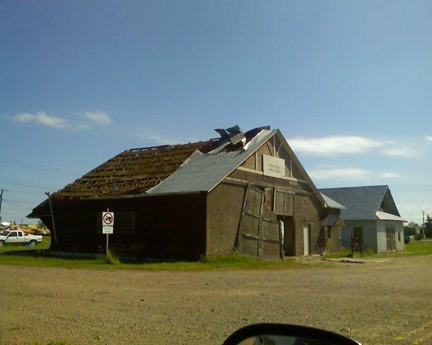 remnants of the tornado Pipestone, Manitoba Canada