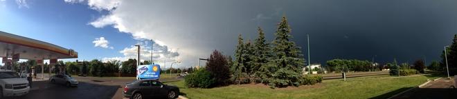 storm passing by Regina Regina, Saskatchewan Canada
