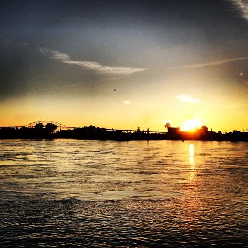 Sunset on the docks Sault Ste. Marie, Ontario Canada