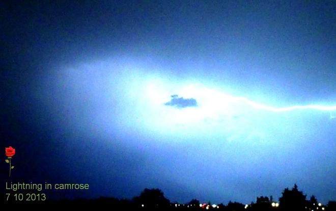 My first lightning shot! Camrose County No. 22, Alberta Canada