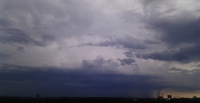 Distant Very Heavy Downpours Ottawa, Ontario Canada
