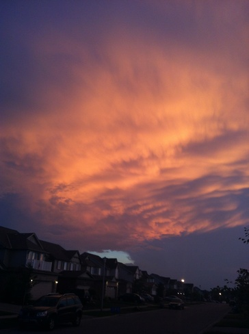 humidity clouds London, Ontario Canada