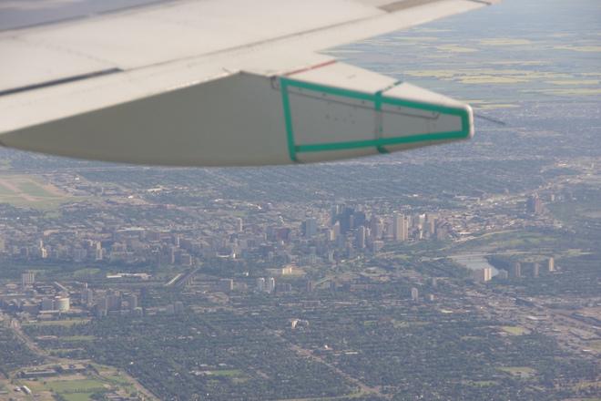 downtown from the plane Edmonton, Alberta Canada