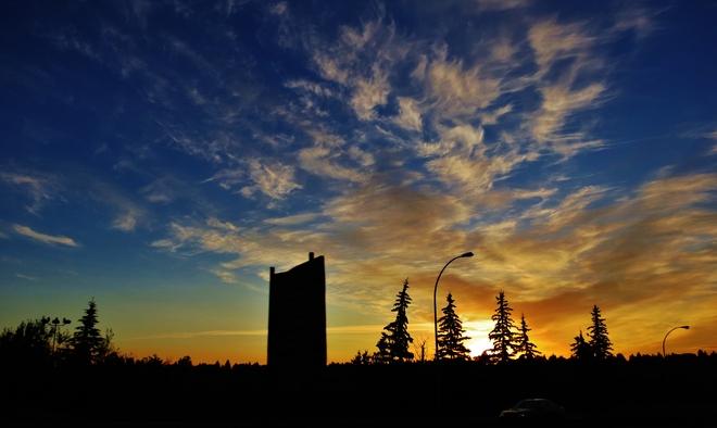 sun rise Edmonton, Alberta Canada