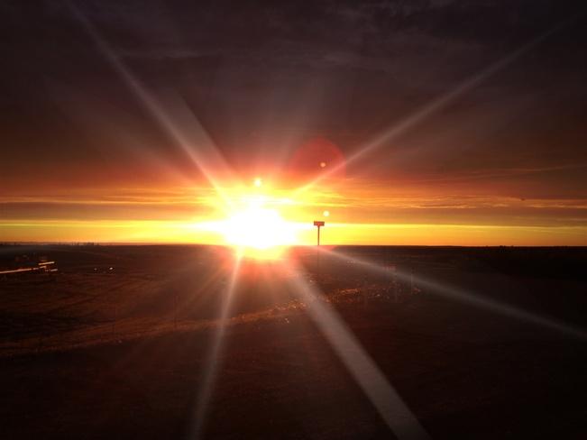 Early morning sunrise. Anzac, Alberta Canada