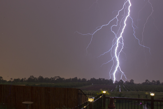 Lightning over the Vines Stoney Creek, Ontario Canada