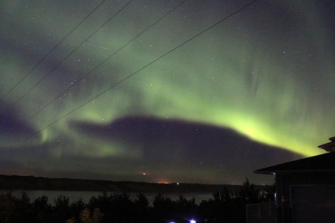 Northern Lights over Little Manitou Lake Manitou Beach, Saskatchewan Canada