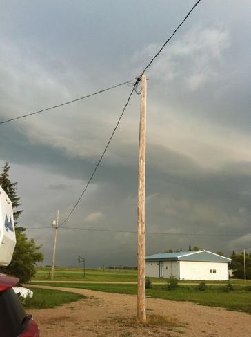 approaching storm Riceton, Saskatchewan Canada