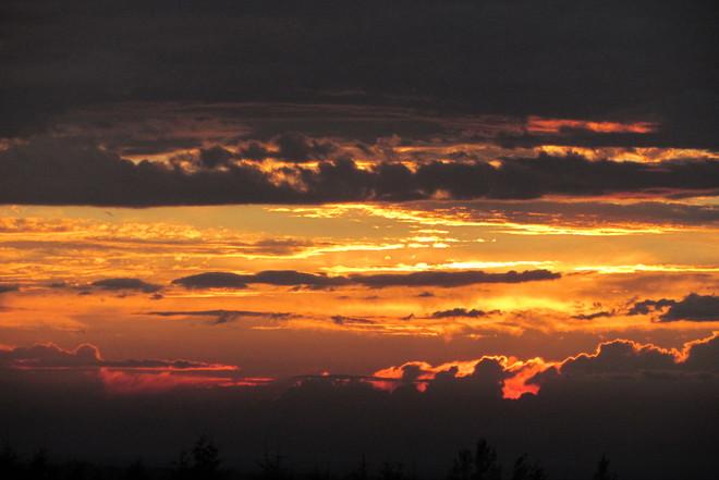 sunset before the storm Springhill, Nova Scotia Canada