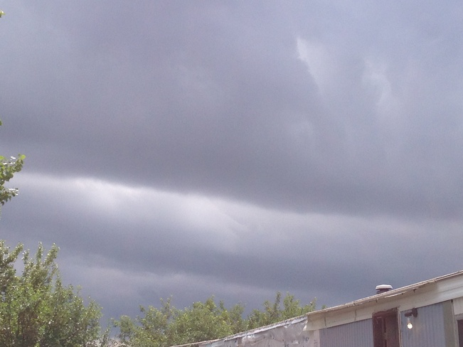 clouds rolling in Estevan, Saskatchewan Canada