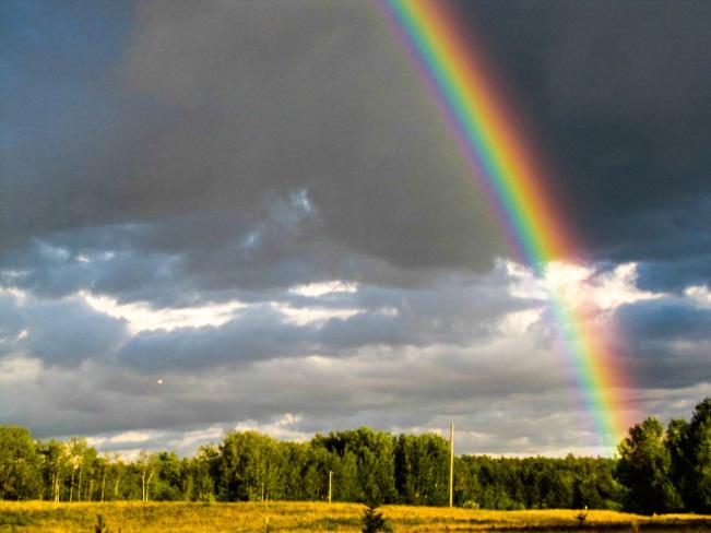 Bright rainbow Haileybury, Ontario Canada