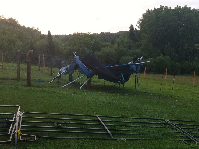 Flying Trampoline! Dryden, Ontario Canada