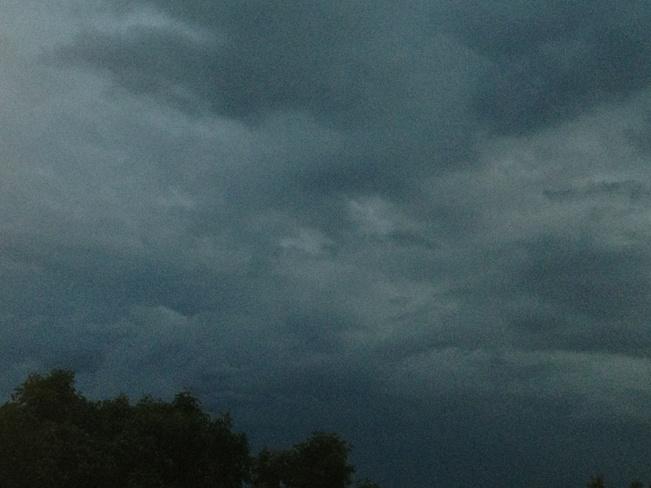Dark clouds Selkirk, Manitoba Canada