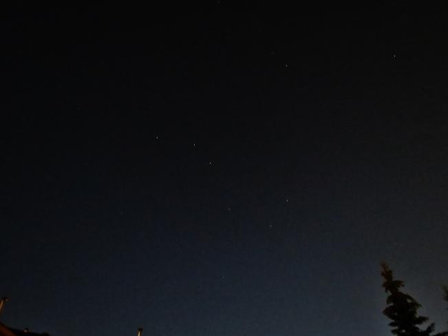 Big Dipper in the clear sky Edmonton, Alberta Canada