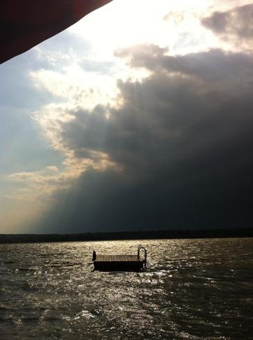 storm rolling in Napanee, Ontario Canada