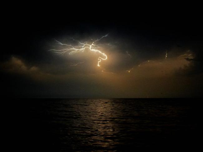 Alien Lightening Over Lake Ontario Etobicoke, Ontario Canada