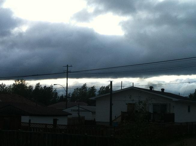 strange cloud Geraldton, Ontario Canada