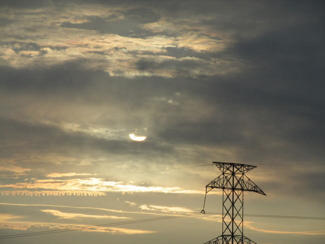 Cloud Over Sun Calgary, Alberta Canada