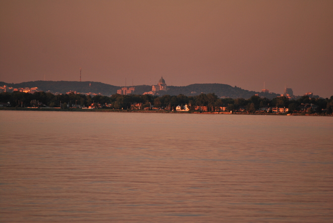 sun set on st.joseph oratory Pointe-Claire, Quebec Canada