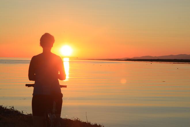 watching the sunset Richmond, British Columbia Canada