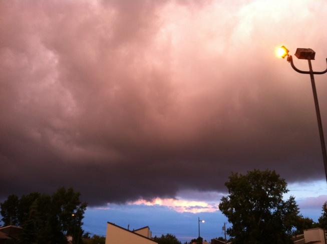 mid summer nights storm Calgary, Alberta Canada