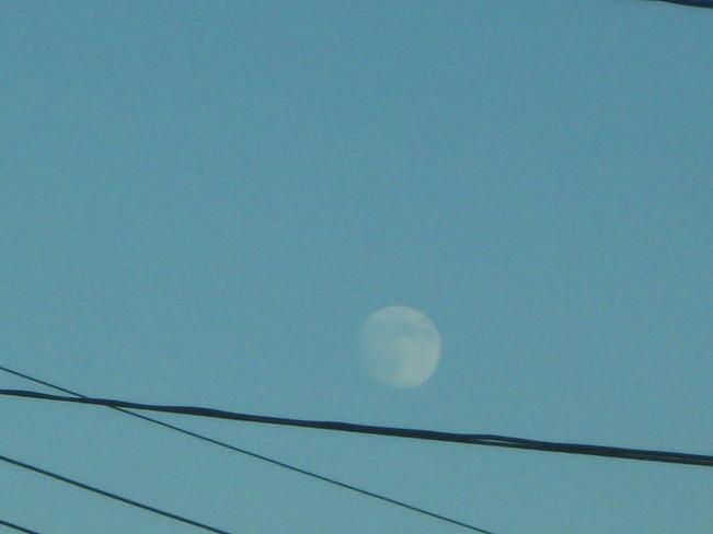 day moon Surrey, British Columbia Canada