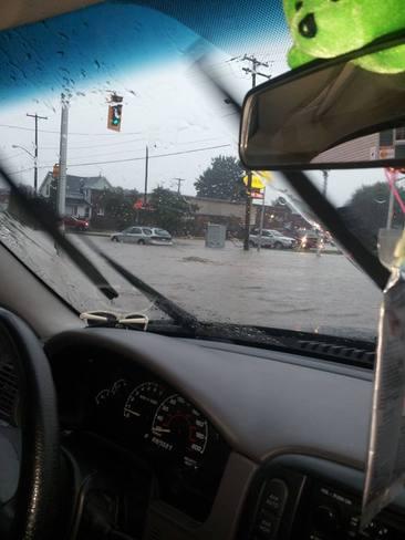 Tim Hortons Flooding Sault Ste. Marie, Ontario Canada