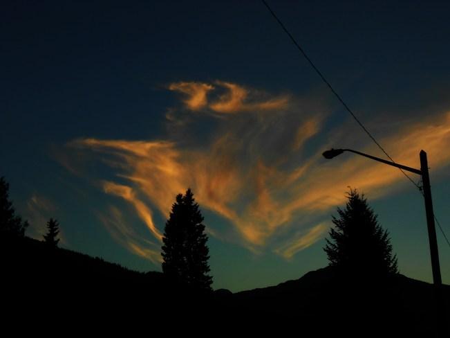 flying goose cloud Revelstoke, British Columbia Canada