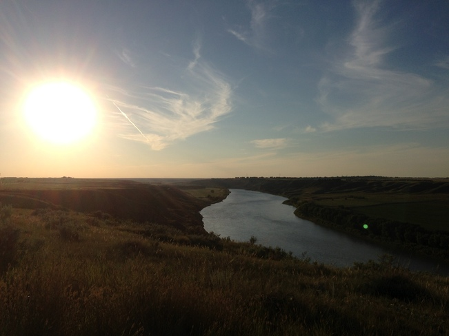 Echodale Walk Overlooking the South Saskatchewan River Medicine Hat, Alberta Canada