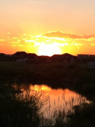 beautiful sunset Okotoks, Alberta Canada