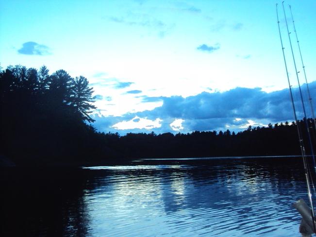 Beautiful night of fishin' Elliot Lake, Ontario Canada