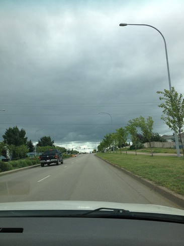coming storm Sherwood Park, Alberta Canada