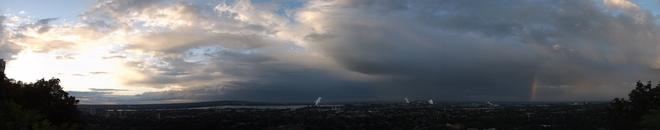 passing storm Hamilton, Ontario Canada