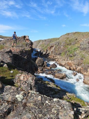 waterfalls in the big valley Iqaluit, Nunavut Canada