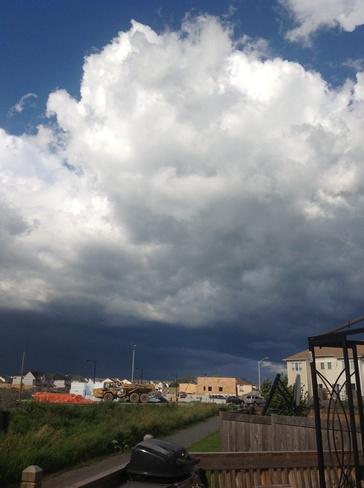 Thunder storm coming Kanata, Ontario Canada