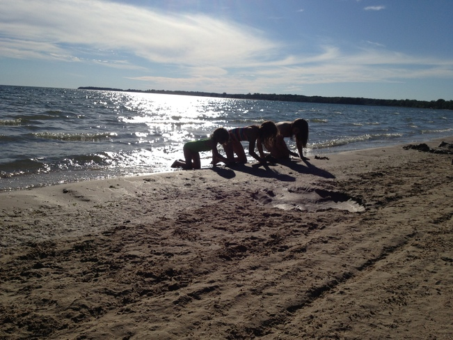 Fun in the sun Sand Banks, Ontario Canada
