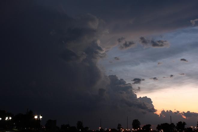 Twilight thunderstorm near London London, Ontario Canada