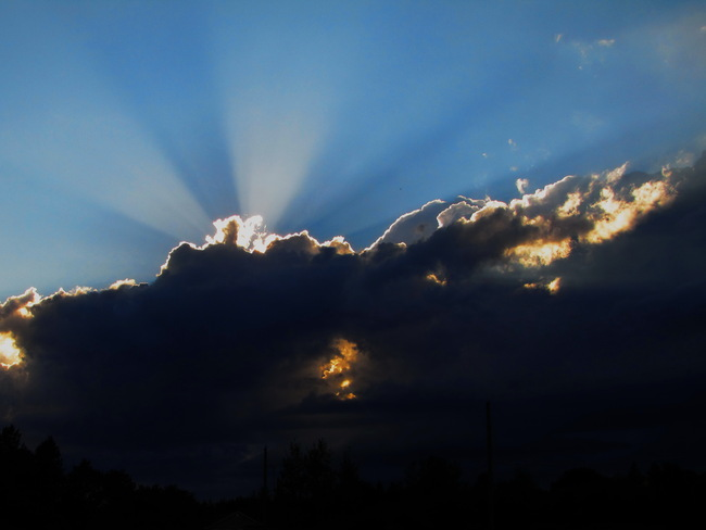 Covering the sun Beresford, New Brunswick Canada