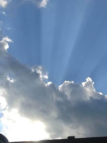 Rays of light St. Albert, Alberta Canada