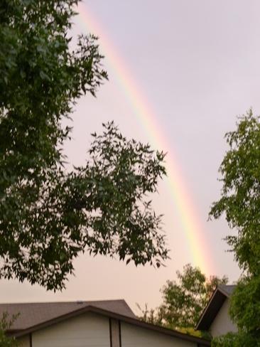 Sunday morning rainbow Brandon, Manitoba Canada