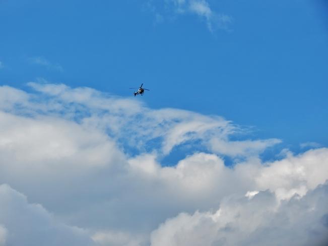 chopper in the sky Edmonton, Alberta Canada