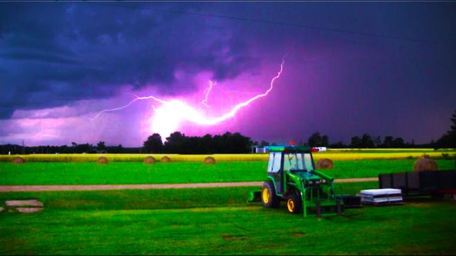 Lightning Storm in Grand River Prince Edward Island Richmond, Prince Edward Island Canada