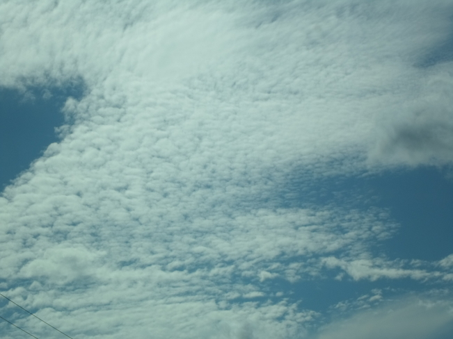 scalloped clouds Elliot Lake, Ontario Canada