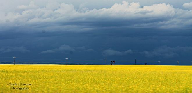Land of the living skies Shaunavon, Saskatchewan Canada