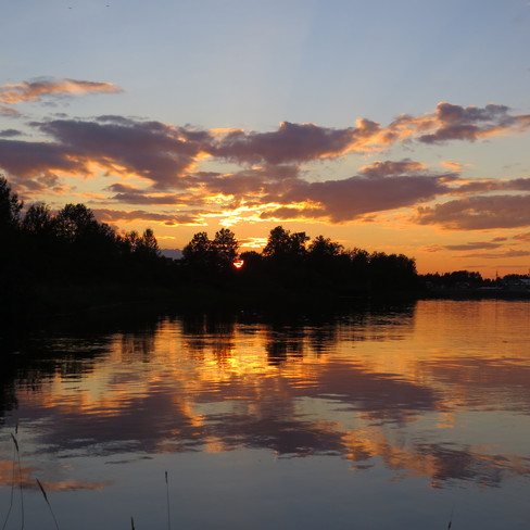 Beautiful reflection Timmins, Ontario Canada