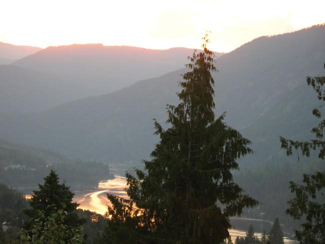 Sunset Over Nelson, BC Nelson, British Columbia Canada