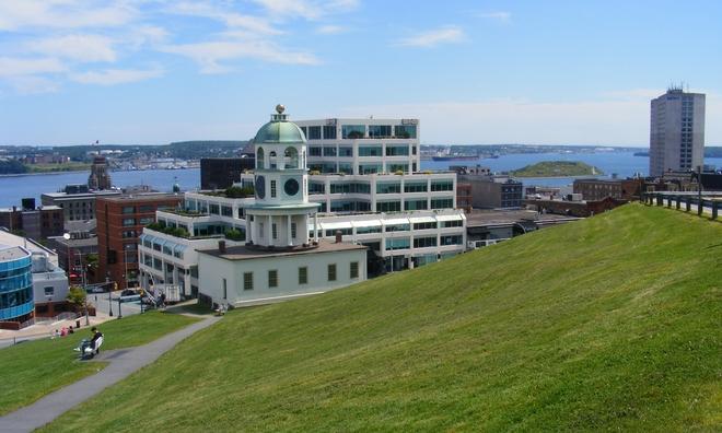 beatiful day on Hill Halifax, Nova Scotia Canada